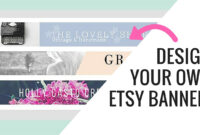 Free Etsy Banner Maker And Easy Tutorial Using Canva intended for Etsy Banner Template