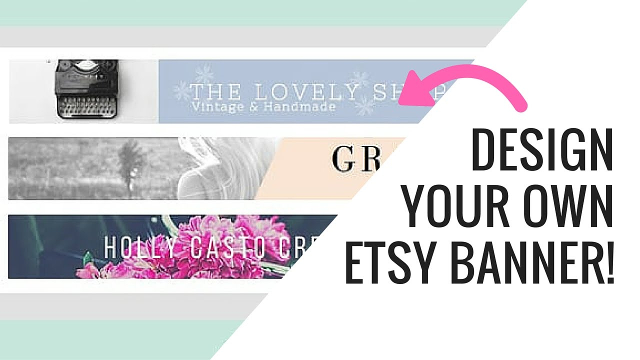 Free Etsy Banner Maker And Easy Tutorial Using Canva Regarding Free Etsy Banner Template