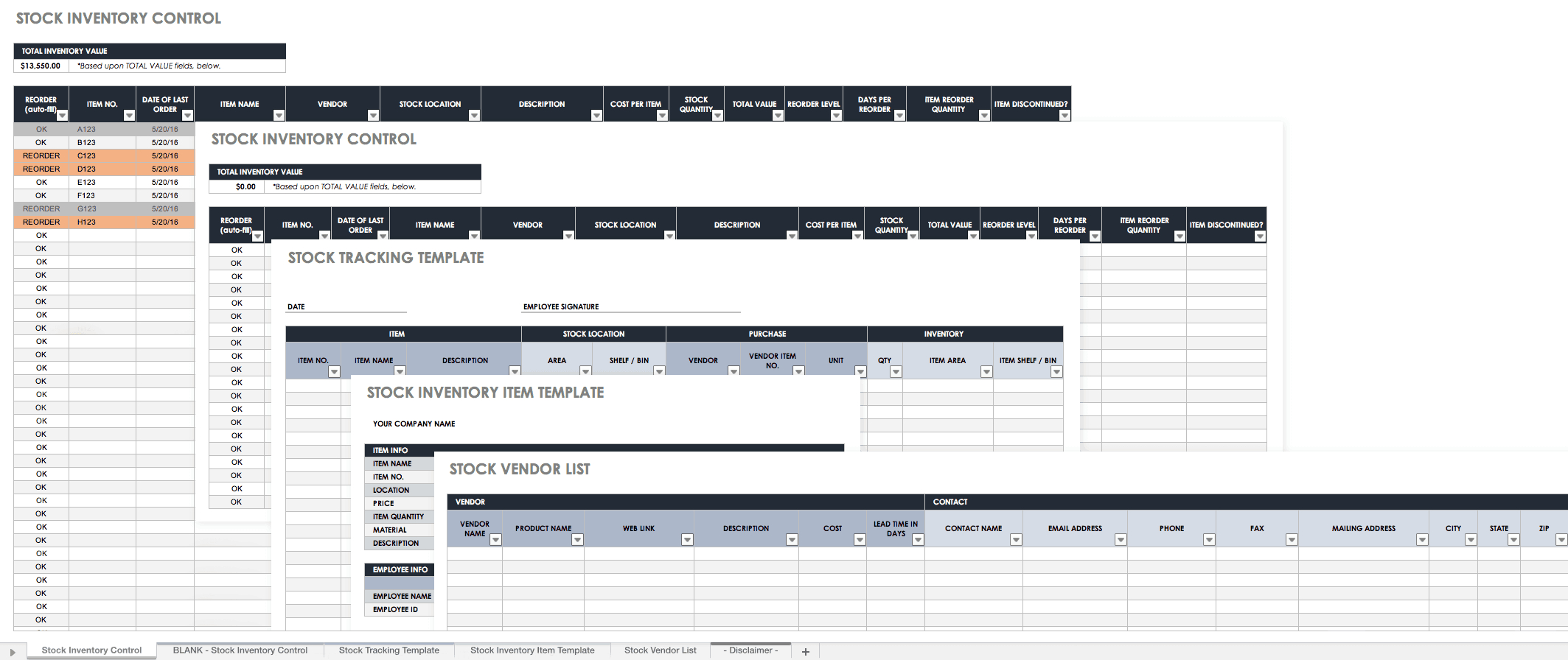Free Excel Inventory Templates: Create & Manage | Smartsheet Inside Stock Report Template Excel