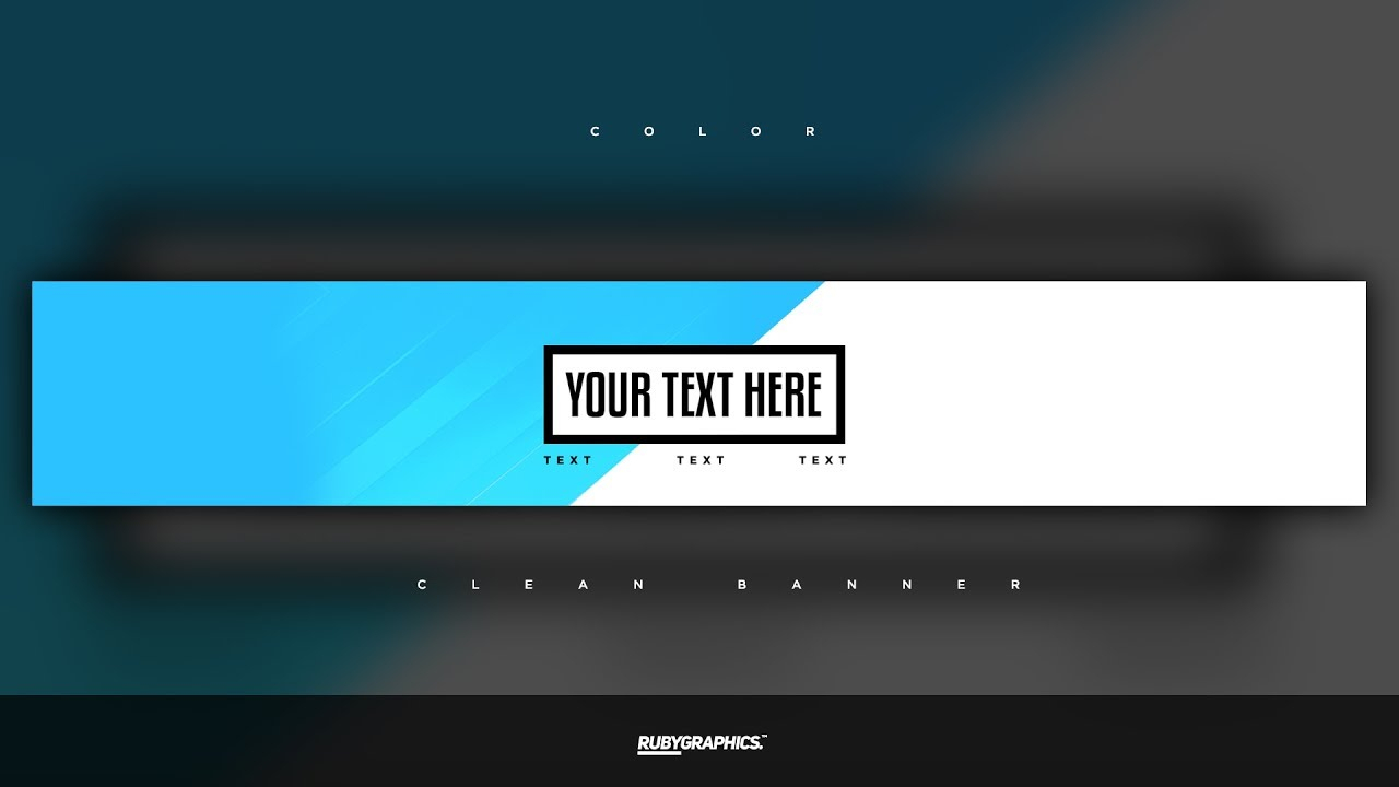 Free Gfx: Free Photoshop Banner Template: Clean 2D Custom Colors Banner  Design Intended For Adobe Photoshop Banner Templates