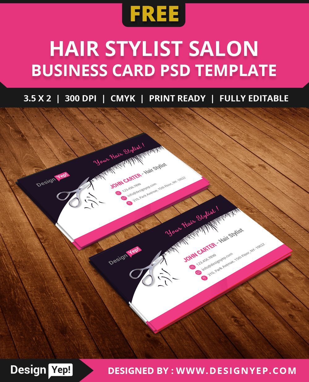 Free Hair Stylist Salon Business Card Template Psd   Free Regarding Hairdresser Business Card Templates Free