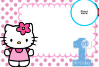 Free Hello Kitty 1St Birthday Invitation Template | Hello within Hello Kitty Birthday Banner Template Free