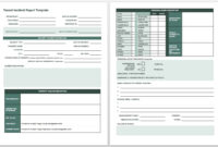 Free Incident Report Templates & Forms | Smartsheet With Accident Report Form Template Uk