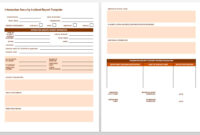 Free Incident Report Templates & Forms | Smartsheet with Incident Report Register Template