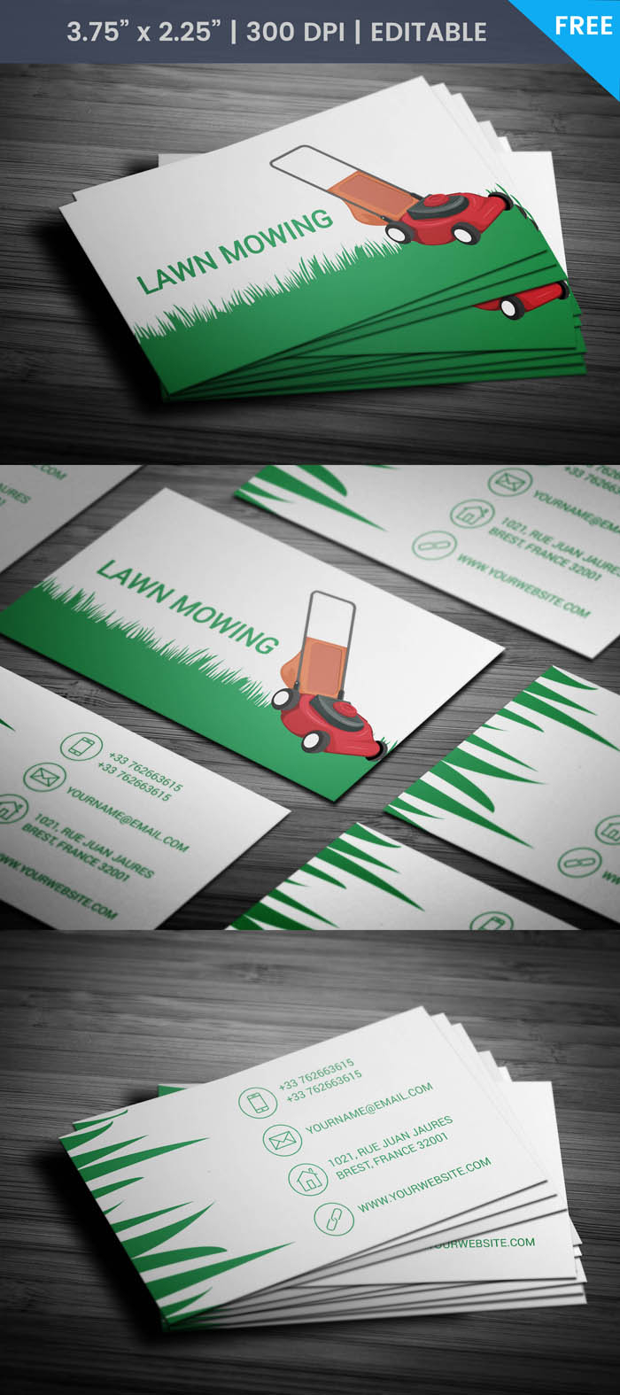 Free Lawn Care Business Card Throughout Lawn Care Business Cards Templates Free