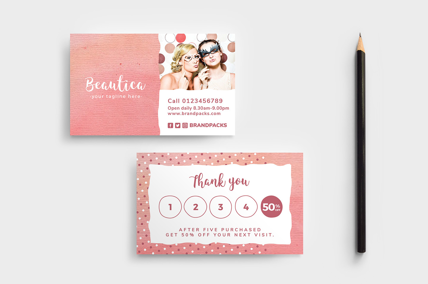 Free Loyalty Card Templates - Psd, Ai & Vector - Brandpacks With Membership Card Template Free