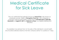 Free Medical Certificate For Sick Leave | Medical, Doctors within Fake Medical Certificate Template Download