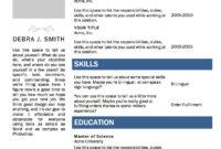 Free Microsoft Word Resume Template | Microsoft Resume for Free Basic Resume Templates Microsoft Word