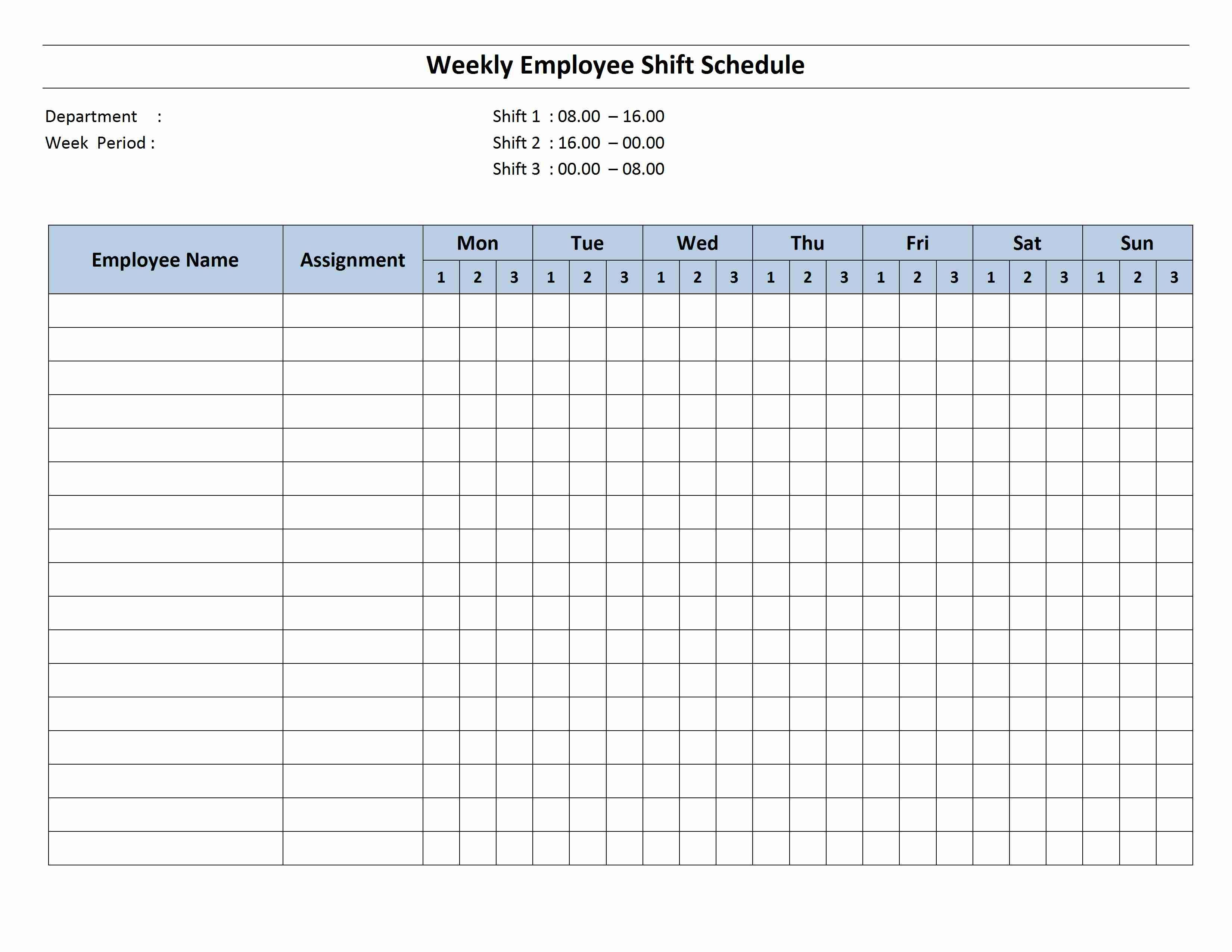 Free Monthly Work Schedule Template | Weekly Employee 8 Hour Intended For Monthly Productivity Report Template