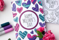 Free Mother's Day Coloring Card with Mothers Day Card Templates