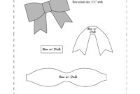 Free No Sew Leather Or Felt Bow Template Download At Www for Headband Card Template