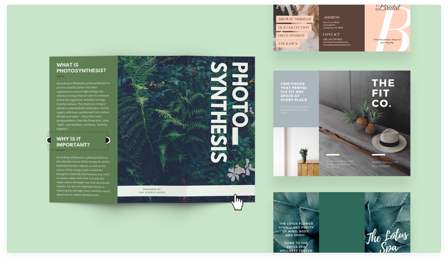 Free Online Brochure Maker: Design A Custom Brochure In Canva Throughout Online Free Brochure Design Templates