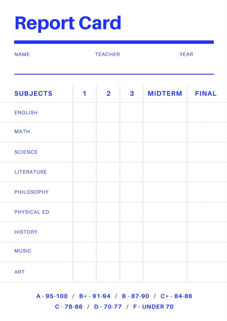 Free Online Report Card Maker: Design A Custom Report Card Pertaining To Fake College Report Card Template