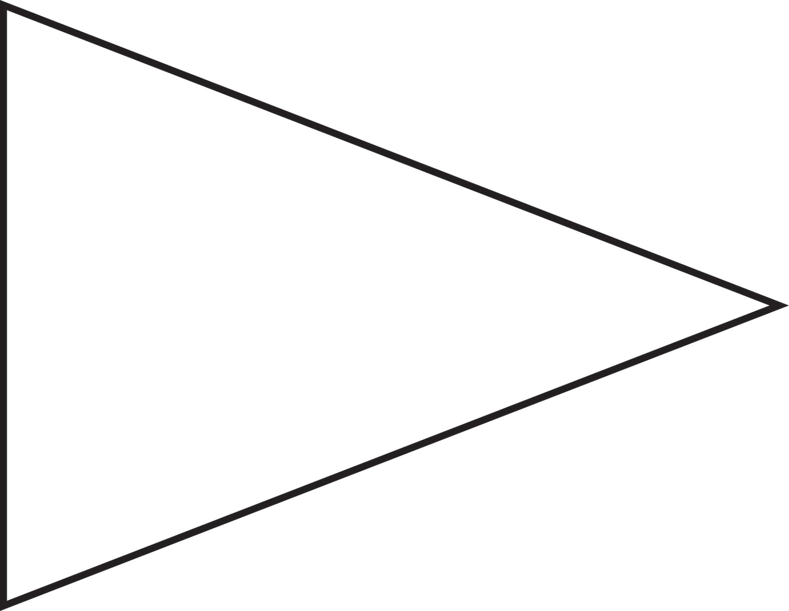Free Pennant Banner Template, Download Free Clip Art, Free For Free Triangle Banner Template