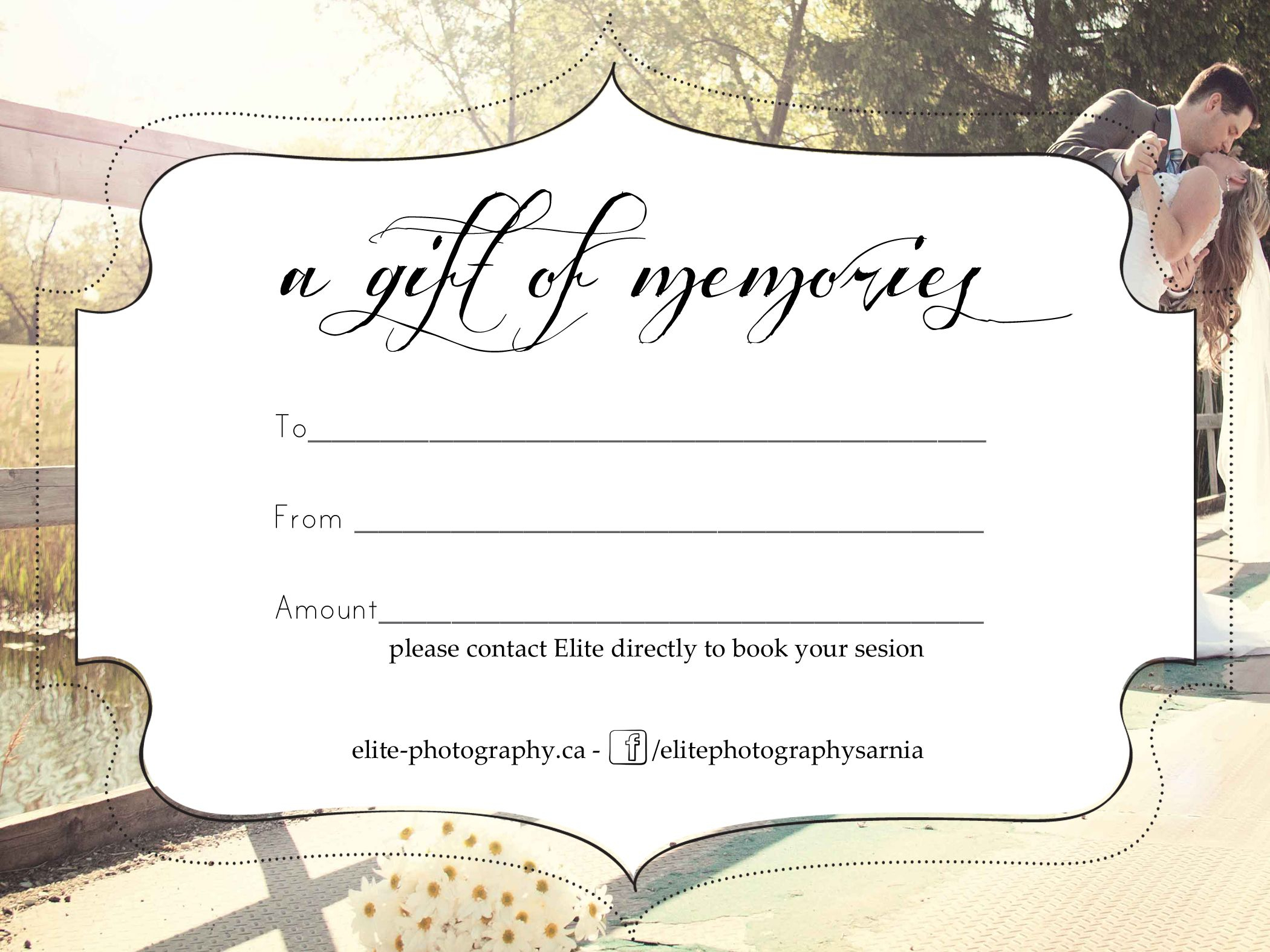 Free Photography Gift Certificate For Photoshoot Gift Certificate Template