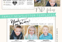 Free Photoshop Download + Year In Review Newsletters throughout Free Photoshop Christmas Card Templates For Photographers