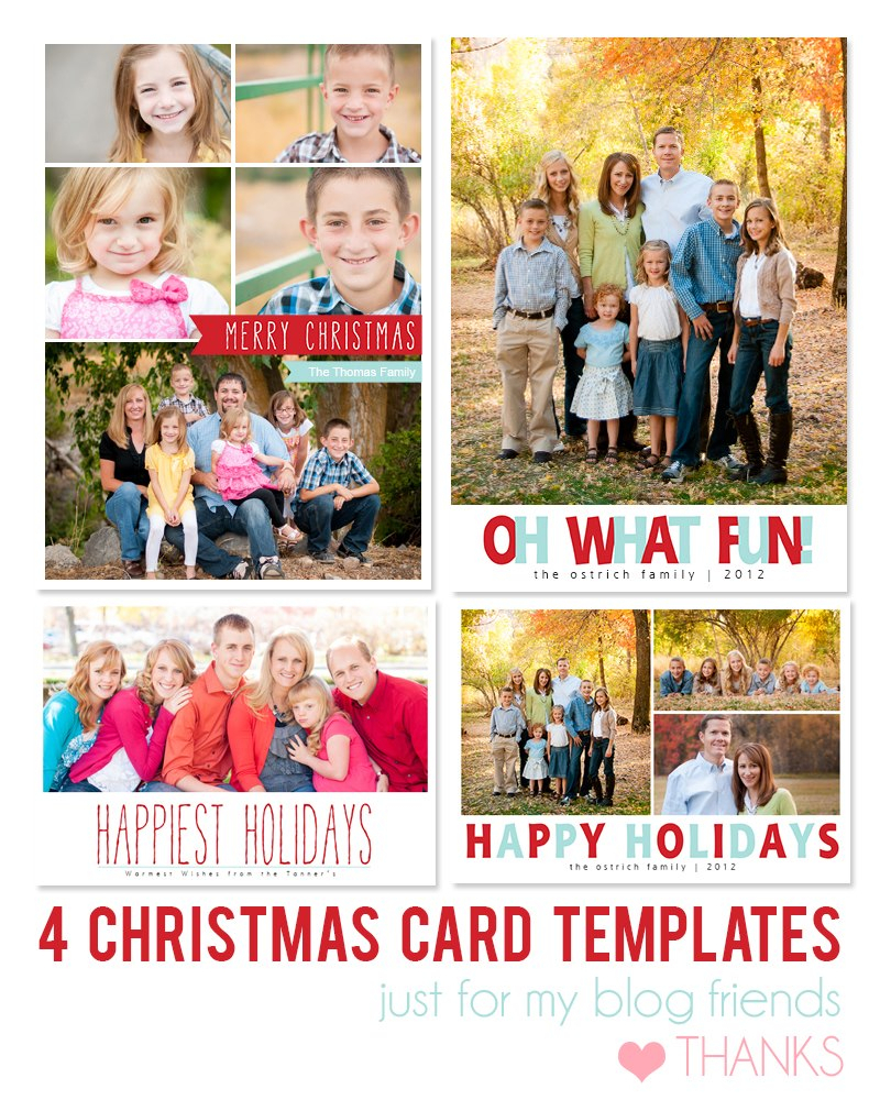 Free Photoshop Holiday Card Templates From Mom And Camera Throughout Free Photoshop Christmas Card Templates For Photographers