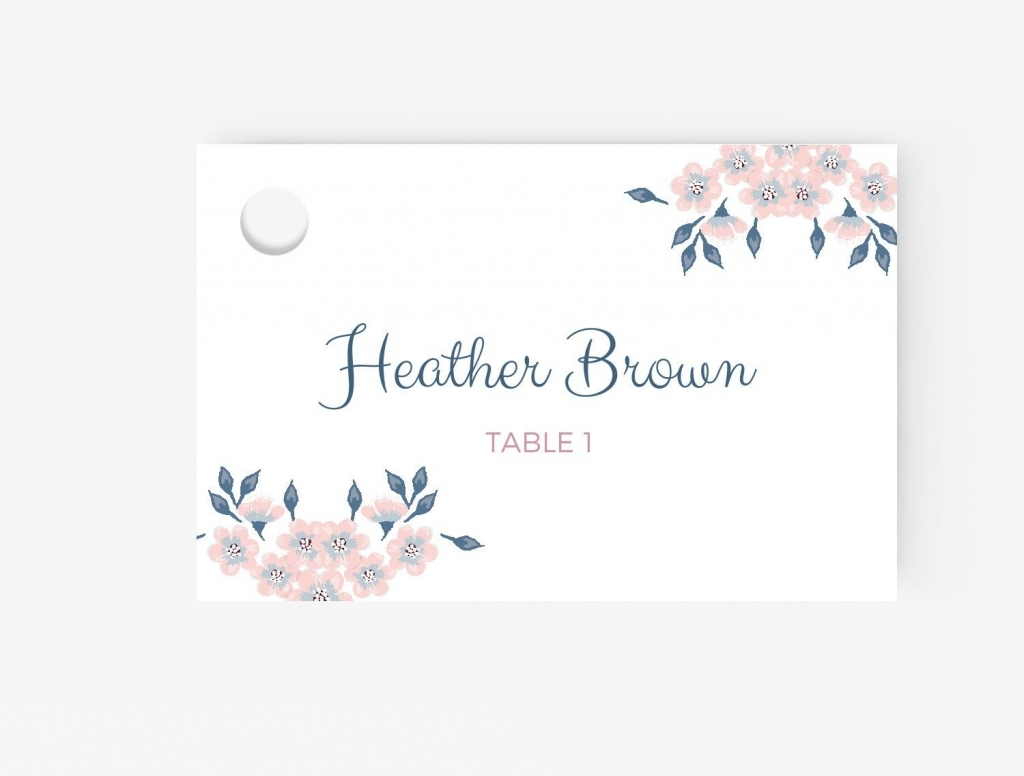Free Place Card Template   Business Plan Template Pertaining To Wedding Place Card Template Free Word