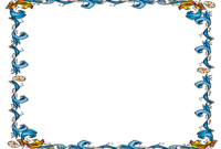 Free Powerpoint Template – Floral Certificate Border intended for Certificate Border Design Templates