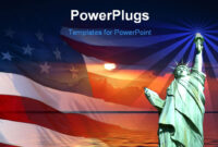 Free Powerpoint Template – Symbol Of America, Flag, Sunrise with regard to American Flag Powerpoint Template
