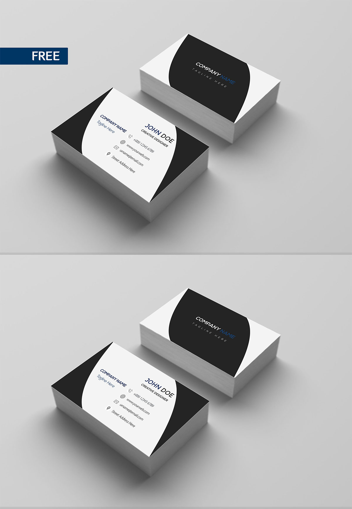Free Print Design Business Card Template - Creativetacos In Free Bussiness Card Template
