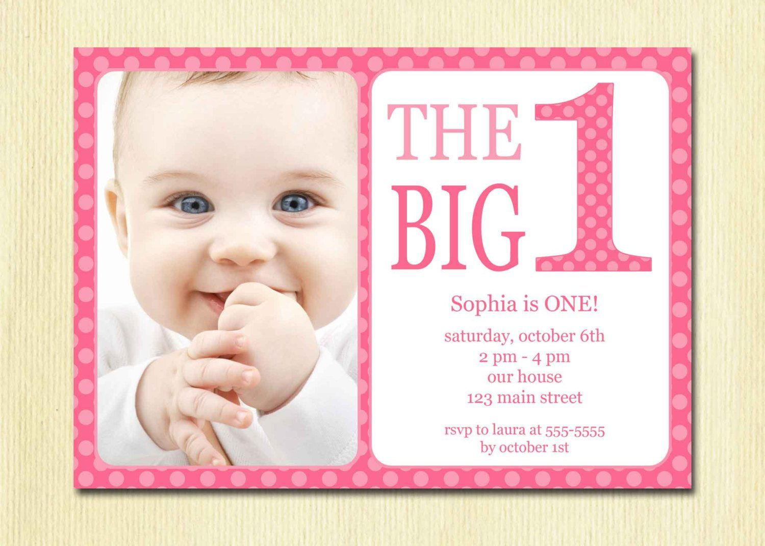 Free Printable 1St Birthday Invitation Template | Birthday With Regard To First Birthday Invitation Card Template