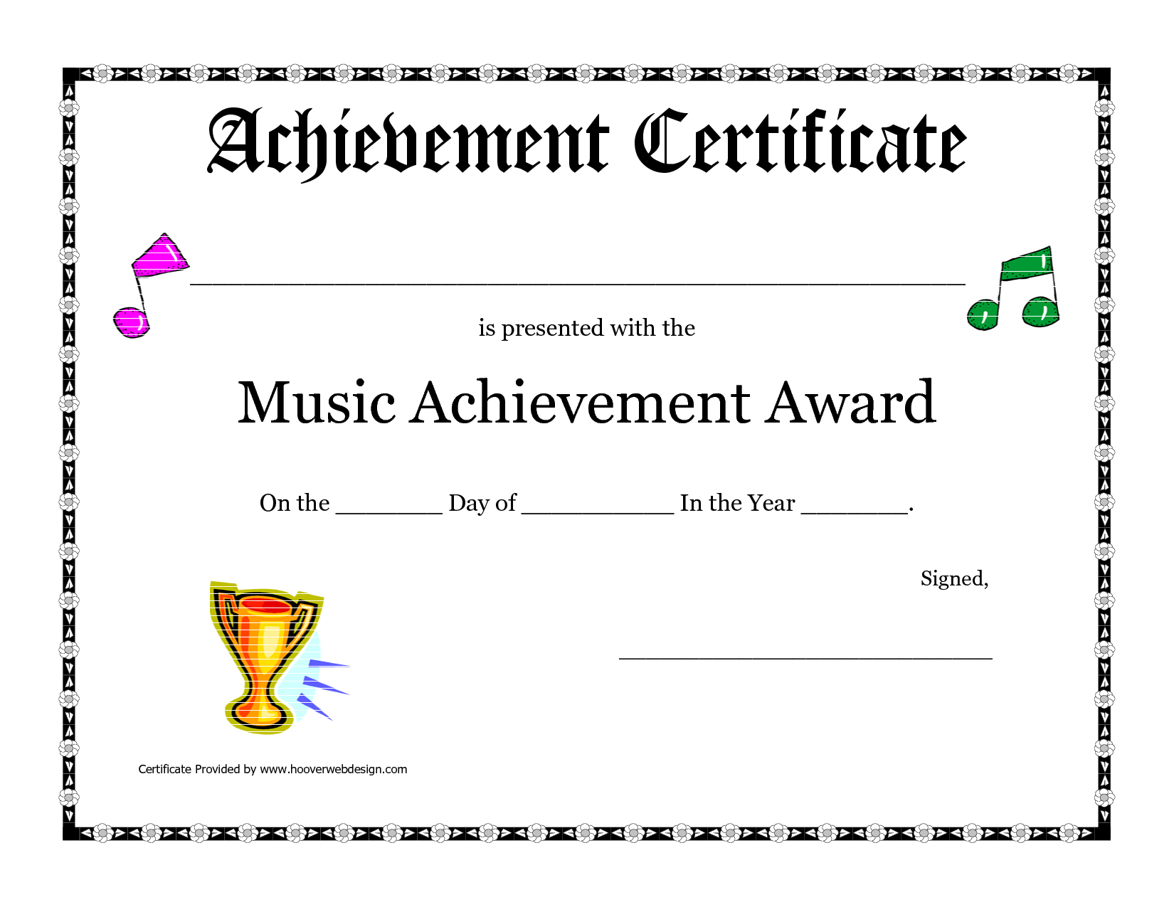 Free Printable Achievement Award Certificate Template With Regard To Academic Award Certificate Template