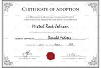 Free Printable Adoption Certificate | Mult-Igry inside Pet Adoption Certificate Template