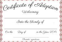 Free Printable Adoption Certificate | Mult-Igry regarding Blank Adoption Certificate Template
