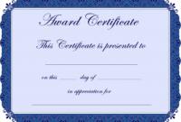 Free Printable Award Certificate Borders    Award with regard to Borderless Certificate Templates