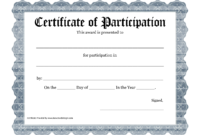 Free Printable Award Certificate Template – Bing Images intended for Certificate Of Participation Word Template