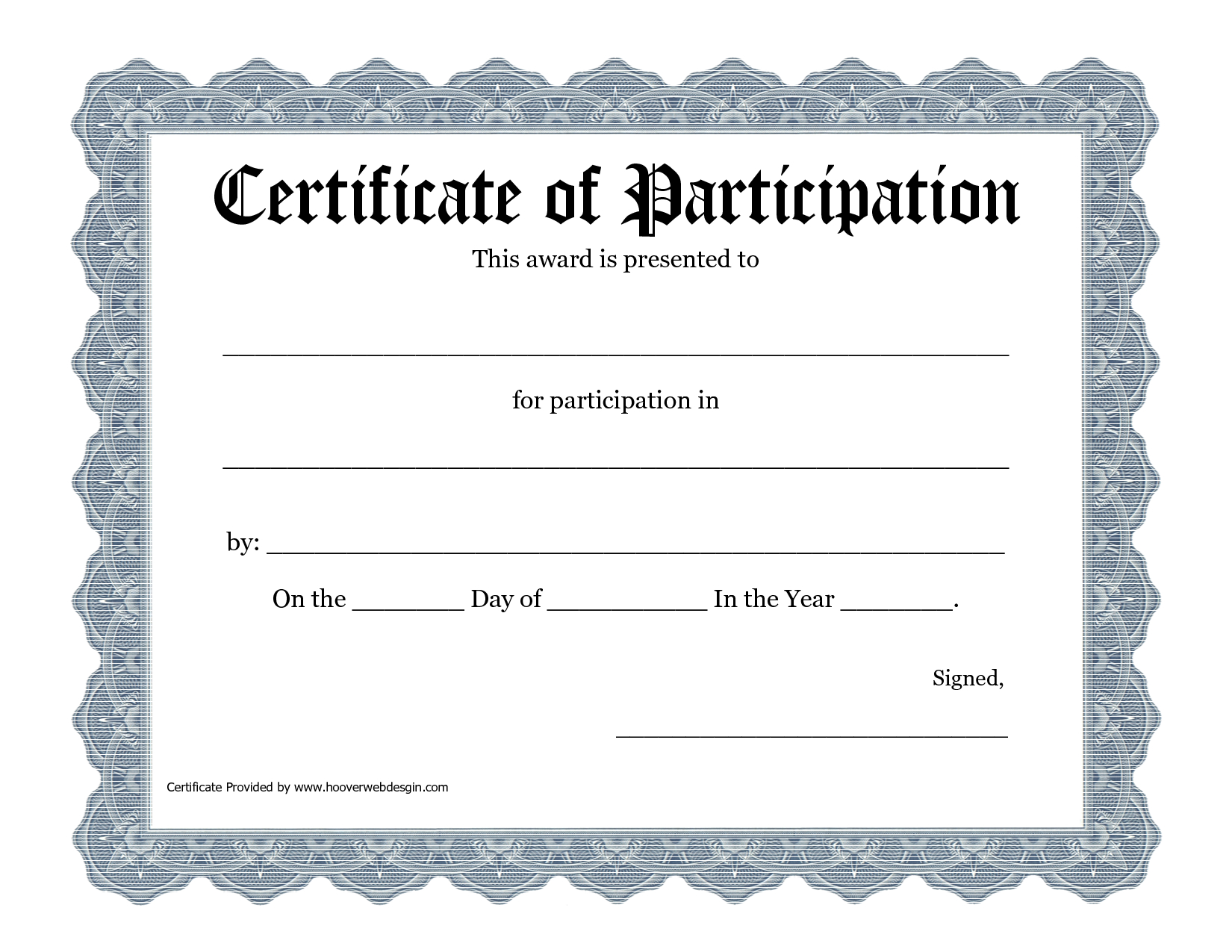 Free Printable Award Certificate Template - Bing Images With Regard To Certificate Of Participation Template Pdf