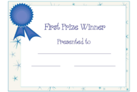 Free Printable Award Certificate Template | Free Printable Within First Place Award Certificate Template