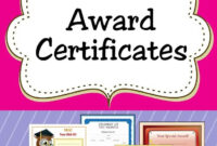 Free Printable Award Certificates For Kids   Homeschool with Free Student Certificate Templates