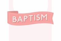 Free Printable Baptism & Christening Invitation Template within Christening Banner Template Free