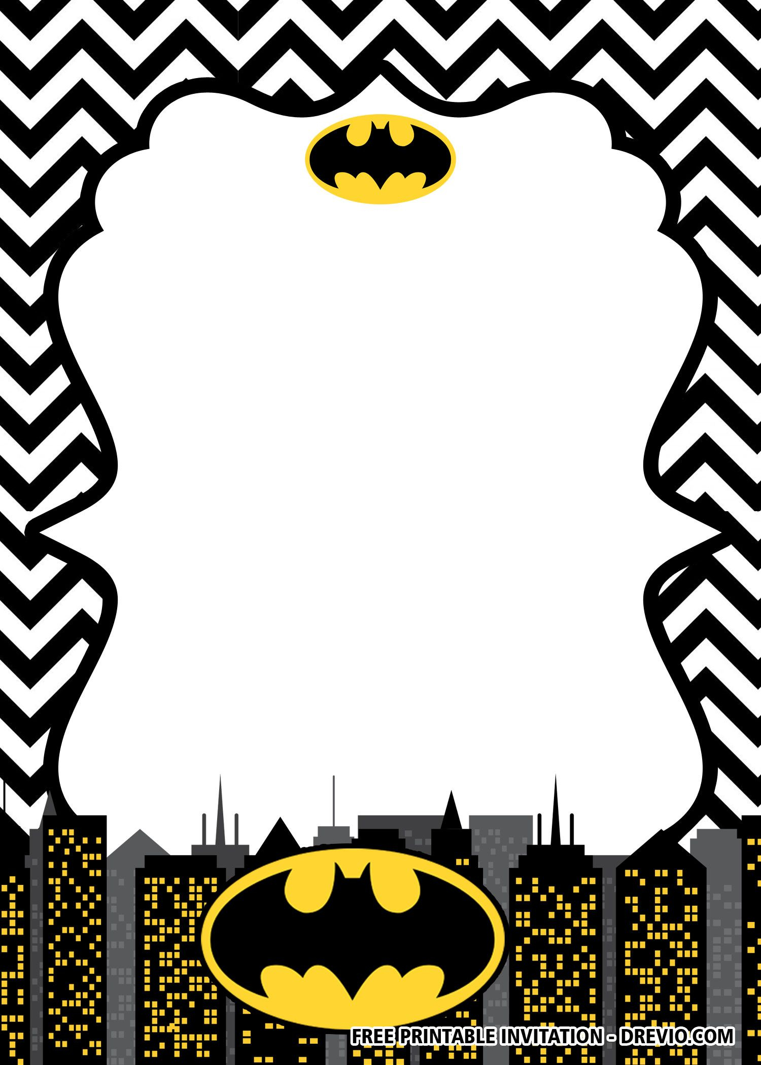 Free Printable Batman Birthday Invitation Templates | Free In Batman Birthday Card Template