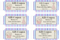 Free Printable Birthday Coupons Templates Gift Certificates pertaining to Blank Coupon Template Printable