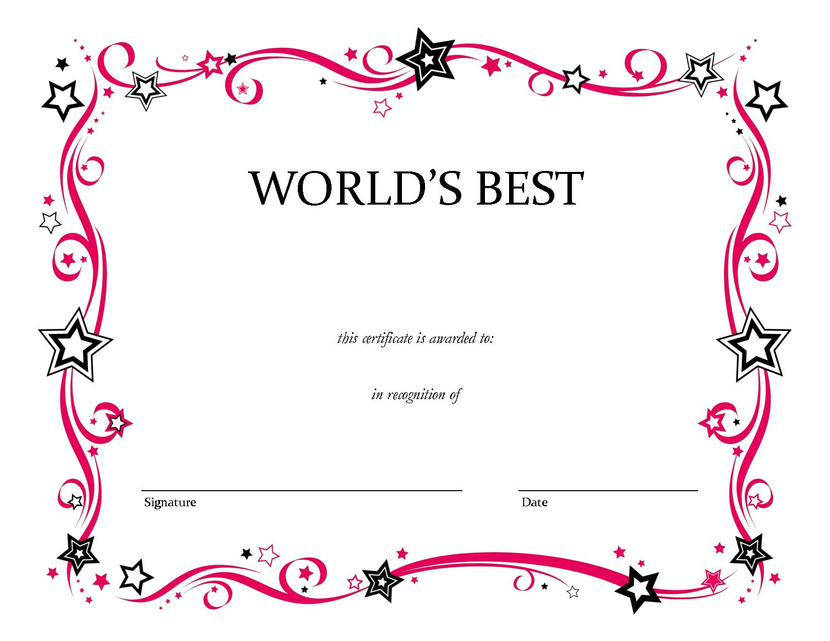 Free Printable Blank Award Certificate Templates Chainimage Throughout Free Printable Blank Award Certificate Templates