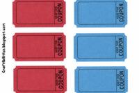 Free Printable Blank Birthday Coupons Template With Red And with Blank Coupon Template Printable