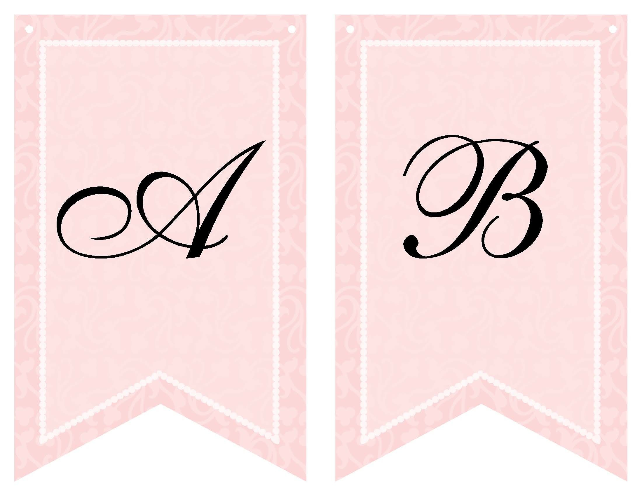 Free Printable Bridal Shower Banner | Vow Renewal | Bridal Within Bride To Be Banner Template