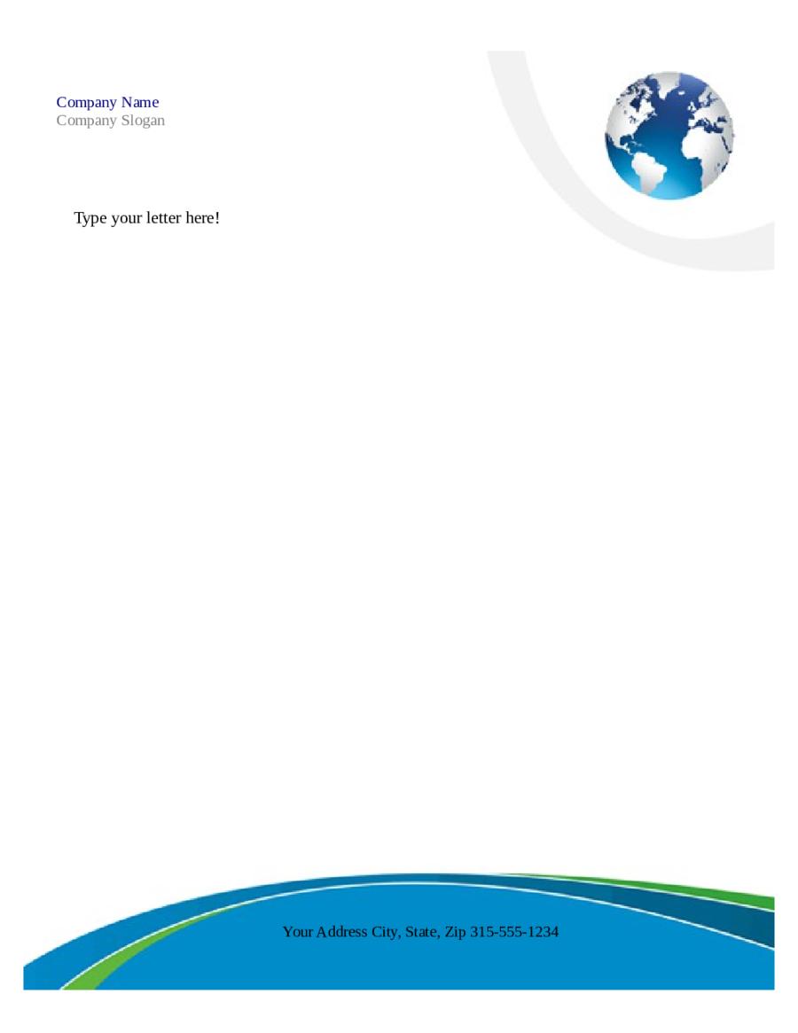 Free Printable Business Letterhead Templates Microsoft Word Within Free Letterhead Templates For Microsoft Word
