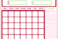 Free Printable Calendar Templates | Activity Shelter with Blank Calendar Template For Kids