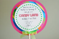 Free Printable Candyland Invitation Templates |  Than I with regard to Blank Candyland Template