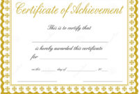 Free Printable Certificate Of Achievement Template | Mult with regard to Blank Certificate Of Achievement Template
