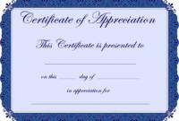 Free Printable Certificates Certificate Of Appreciation inside Blank Certificate Of Achievement Template