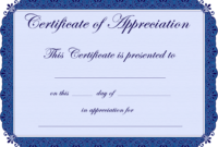 Free Printable Certificates Certificate Of Appreciation with regard to Employee Recognition Certificates Templates Free