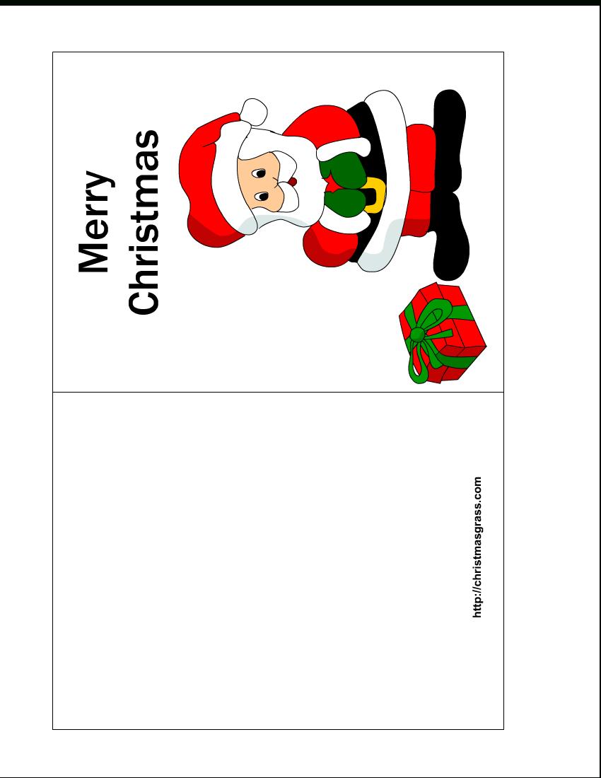 Free Printable Christmas Cards   Free Printable Christmas Intended For Printable Holiday Card Templates