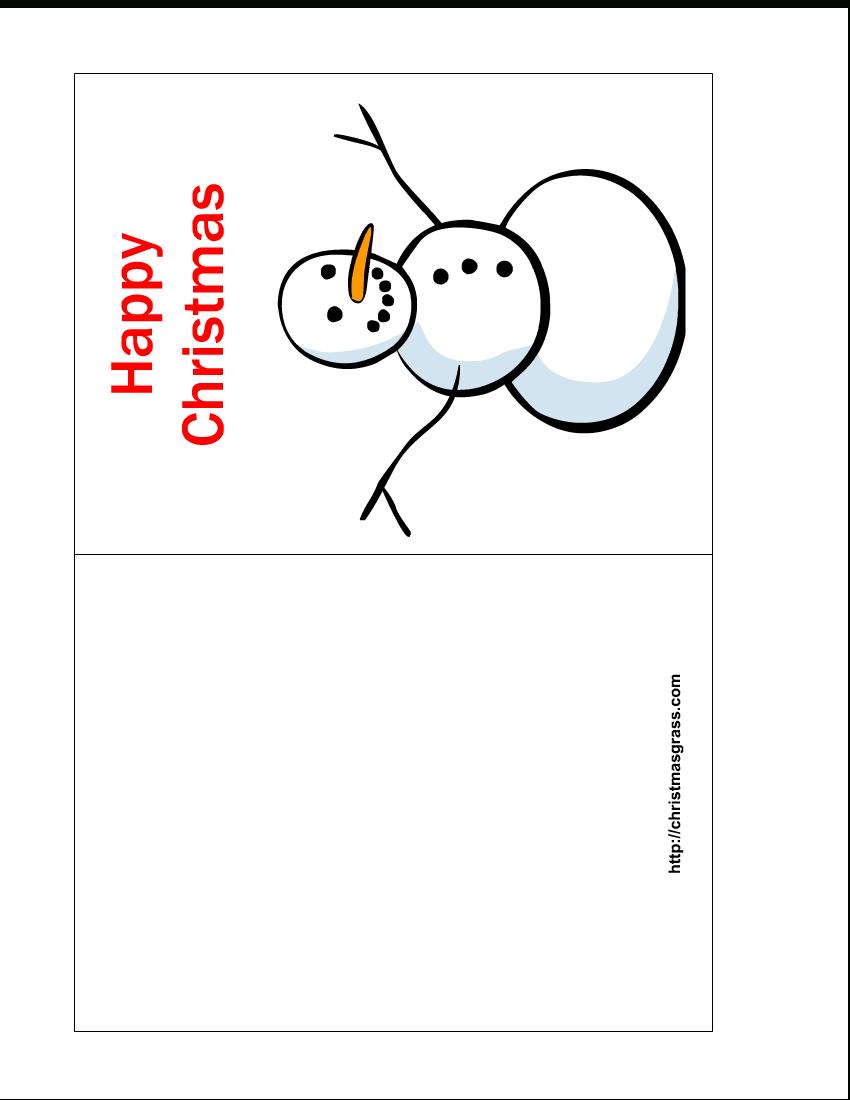 Free Printable Christmas Cards   Free Printable Happy For Printable Holiday Card Templates