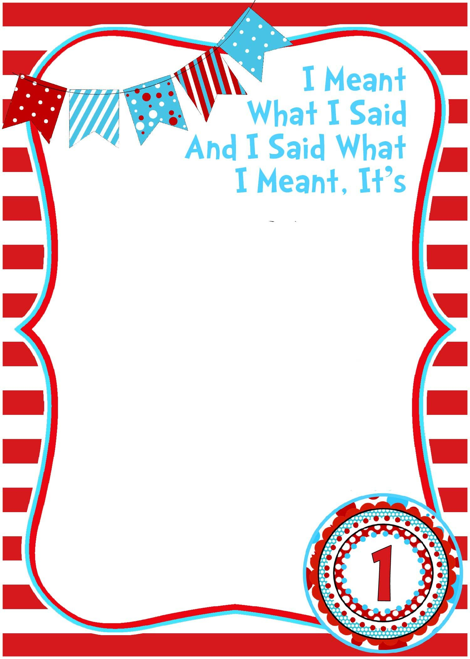 Free Printable Dr Seuss Birthday Invitations | Dr Seuss Throughout Dr Seuss Birthday Card Template