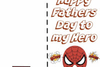 Free Printable Fathers Day Super Hero Cards. Just Print Out For Fathers Day Card Template